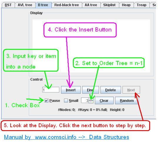 http://www.comsci.info/comsci_data_structure-B_tree-example1.php